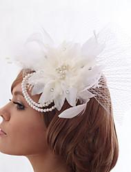 Schöne Silk Screen / Nachahmungen von Perlen Hochzeit / Braut Kopfschmuck Blume