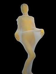 Blanc Maman Spandex Zentai Full Body (sans sous-vêtements Zentai)