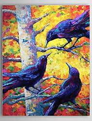 Ручная роспись маслом животных птица 1304-AN0091