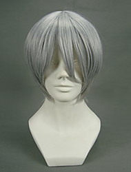Cosplay Wigs Vampire Knight Zero Gray Short Anime Cosplay Wigs 32 CM Heat Resistant Fiber Male