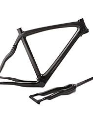 embaralhar-2013 novo estilo cheio de carbono pluma cobra em forma de quadro de bicicleta de estrada com garfo rígido e selim