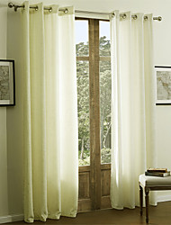 TWOPAGES® Two Panels  Pure Solid Classic Chenille Curtain