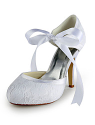 Women's Shoes Lace Spring / Summer / Fall / Winter Heels Wedding Stiletto Heel Ivory / White