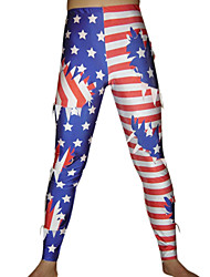Stars and Stripes Ripped Spandex Pantalons