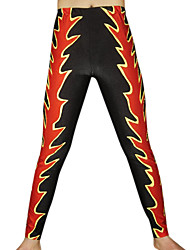Red and Black Flame Spandex Pants