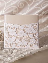 elegante, floreale matrimonio invito taglio (set di 50)