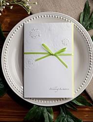 Não personalizado Tri-Dobrado Convites de casamento Cartões de convite-50 Peça/Conjunto Estilo Flôr / Tema de Fadas Papel com Relevo6