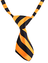 Cat / Dog Tie/Bow Tie Orange / White Dog Clothes Spring/Fall Wedding