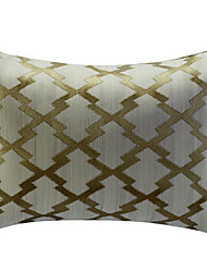 Beige Geometric Pattern Jacquard Decorative Pillow Cover