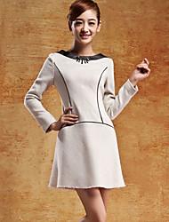 Cjelly Vintage Tweed una línea de vestido
