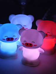 Wedding Décor Lovely Vinyl Pig LED Lamp - Set of 4 (Color Changing, Built-in Botton Cell)
