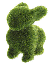Трава Земля ручной кролик животных с искусственным покрытием