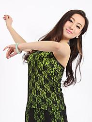 Spandex dancewear con el cordón Latin Dance Top para señoras más colores