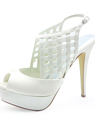 Fashion Satin Stiletto Heel Sandals With Buckle Wedding Shoes (More Colors)
