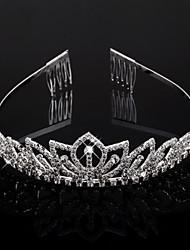 Headpieces cristais transparentes casamento tiara de noiva