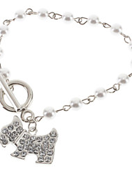 The Puppy Pearl Alloy Bracelet