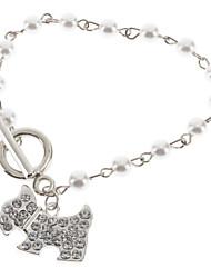 Le bracelet en alliage perle Puppy