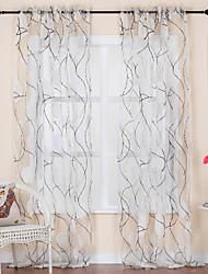 Dois Painéis Tratamento janela Rococó , Curva Sala de Estar Poliéster Material Sheer Curtains Shades Decoração para casa For Janela