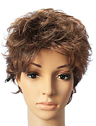 Capless Synthetic Brown Short Straight Hair Wig