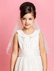 Two-tier Wedding Flower Girl Veil With Pencil Edge