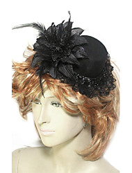 Women's Lace Feather Tulle Flannelette Headpiece-Wedding Special Occasion Fascinators