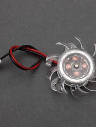 White Plastic PC-Gehäuse Lüfter (4cm) ECS002986
