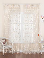 twopages® deux panneaux pays jacquard floral voilage