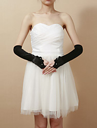 Delicate Satin Fingerless Elbow Length Party/Evening Gloves