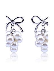 Mode bowknot modèle Pearl Earrings