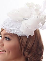 Schöne Silk Screen mit Nachahmungen von Perlen und Spitze Hochzeit / Braut Blume
