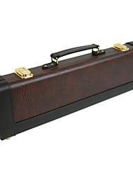 Netuno - (FL-661) Médio grau de caso Flauta couro