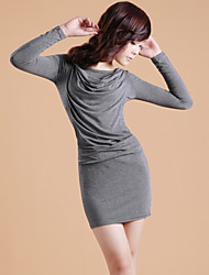 ZHI YUAN Gugel Collar Long Sleeve Bodycon Kleid (mehr Farben)