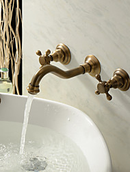 Bathroom Sink Faucet in Antique Inspired Designed (Polished Brass Finish)