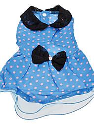 Dog Dress Blue / Pink / Orange Spring/Fall Polka Dots