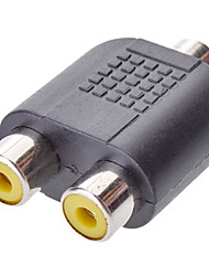 Audio de 3,5 mm a 2 RCA f / f adaptador