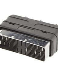 Scart a 3 RCA F / F Adaptador