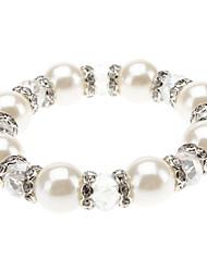 Crystal Pearl Avec Diamond Bracelet