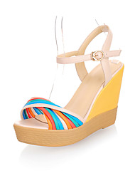 Fashion Leatherette Wedge Heel Sandals With Split Joint Party/Evening Shoes  (More Colors)
