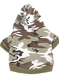 Dog Hoodie Green / Pink Winter Camouflage