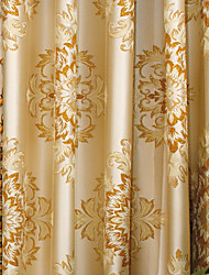 Two Panels Curtain European Neoclassical Bedroom Polyester Material Curtains Drapes Home Decoration For Window