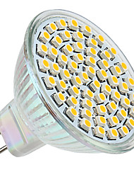 3W GU5.3(MR16) Spot LED MR16 60 SMD 3528 250 lm Blanc Chaud DC 12 V