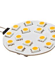 3W G4 Luminárias de LED  Duplo-Pin 15 SMD 5050 210 lm Branco Quente DC 12 V