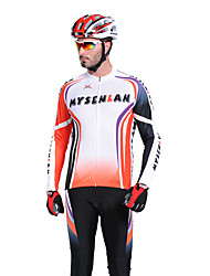 Mysenlan Men's Long Sleeve Bike Breathable Thermal / Warm Waterproof Zipper Front Zipper Wearable Clothing Sets/Suits Polyester
