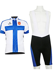 KOOPLUS Men's Cycling Suits Half Sleeve Bike Breathable / Waterproof Zipper / Front Zipper / Wearable BlueS / M / L / XL / XXL / XXXL /