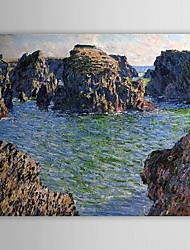 Famous Oil Painting Coming into Port-Goulphar, Belle-Ile by Claude Monet