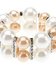 Domineering Two-Tone Ladies Pearl Bracelet