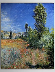 Famous Oil Painting Landscape on the Ile Saint-Martin by Claude Monet