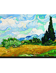 Campo de Trigo com Ciprestes, c.1889 por Vincent Van Gogh famosa tela esticada