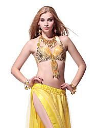 Lentejuelas Dancewear y Crystal con borlas Danza del vientre Tops para las damas más colores