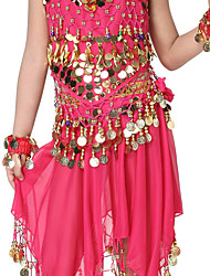 Dancewear Chiffon with Coins Belly Dance Belt For Children